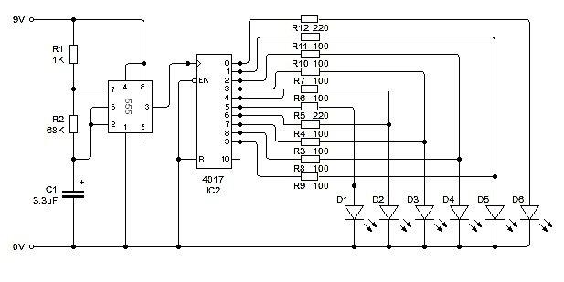 электросхема светодиодной