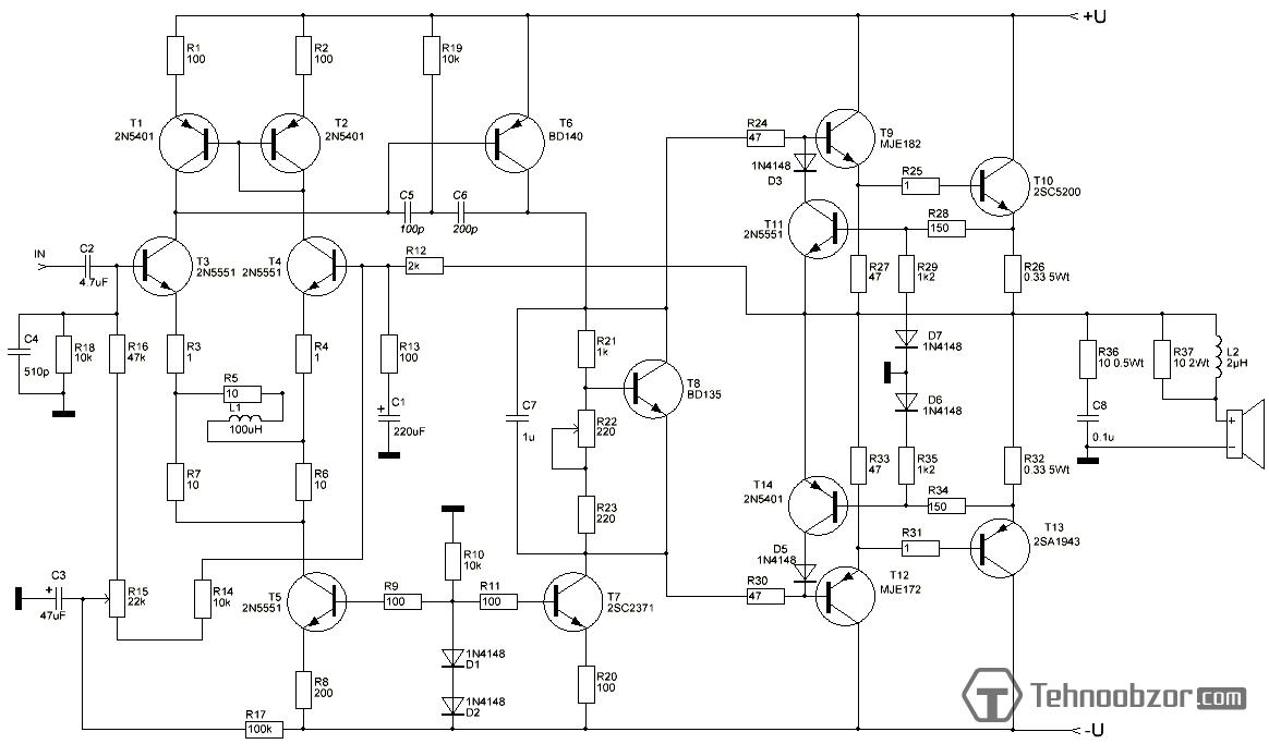 Схема усилителя на кт80бм