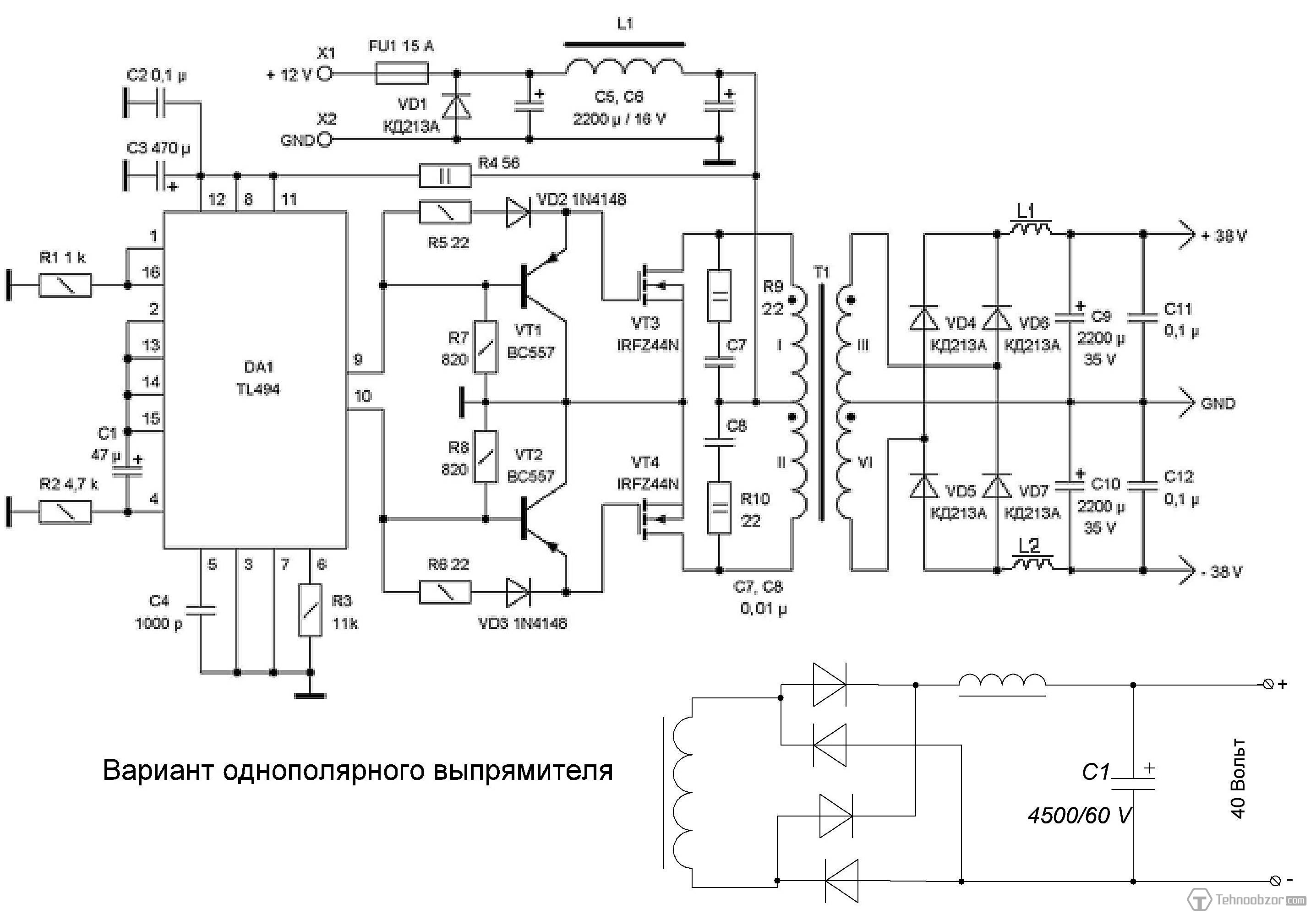 Grozzart 1000w Solar Inverter Circuit Diagram Schematic Wiring As Well