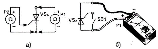 схема проверки тиристоров