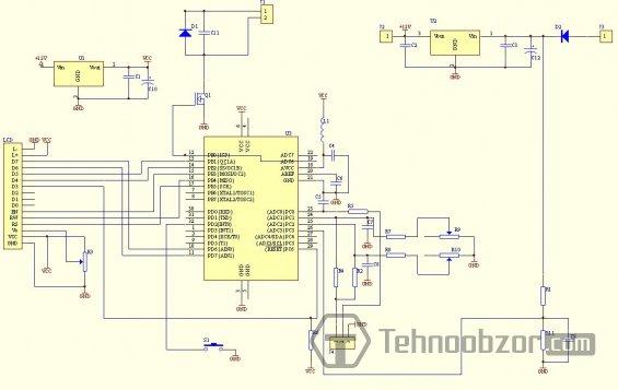 схема варианта вольтамперметра для TQFP32