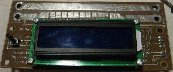 Вольтметр, амперметр и измеритель ёмкости аккумуляторов на микроконтроллере - дисплей ЖК