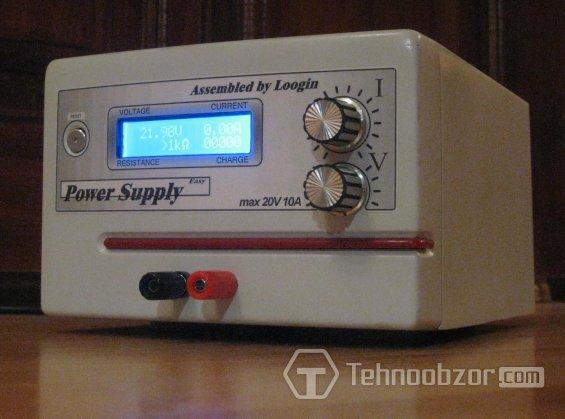 самодельный цифровой вольт-амперметр собран для ЛБП