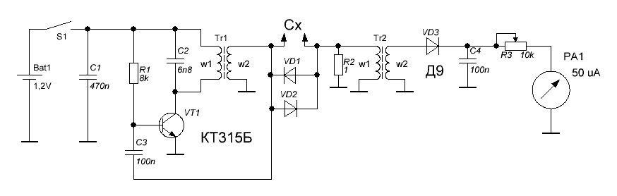 ESR измеритель конденсаторов