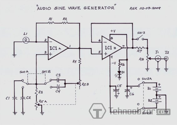 Генератор синусоидального сигнала: http://tehnoobzor.com/schemes/measurements/318-generator-sinusoidalnogo-signala.html