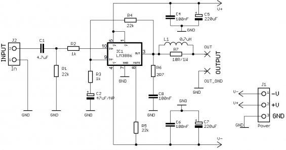 Схема усилителя звука на 50 ватт 3886