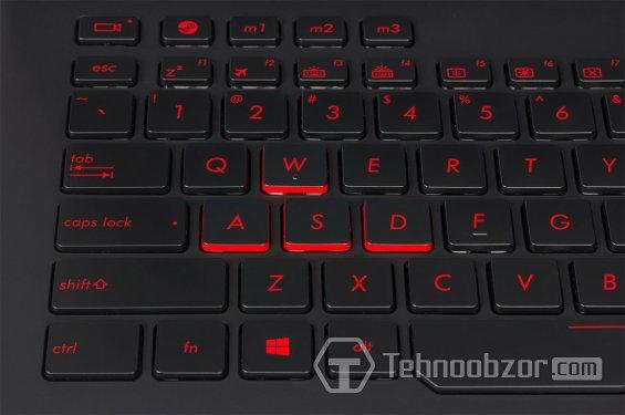 Клавиатура ноутбука ASUS ROG G751JY