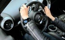 Умный bluetooth браслет с часами для телефона