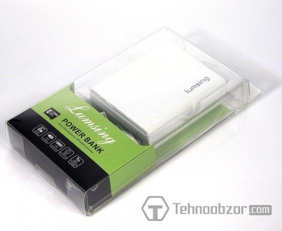Комплект поставки устройства Lumsing Power Bank 11000mAh
