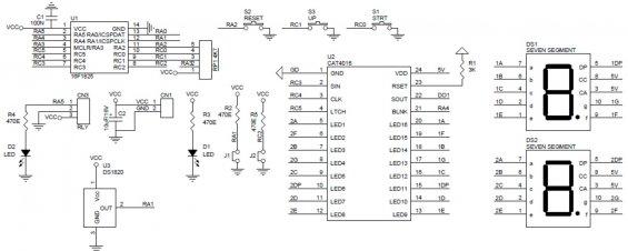 Электронный термометр своими руками - схема электрическая