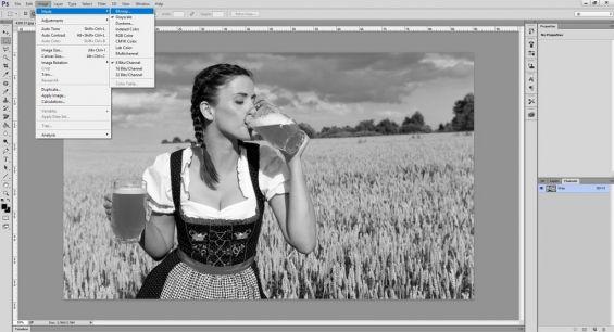 Перевод изображения в режим Bitmap