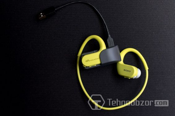 Sony Walkman NW-WS413 и шнур USB