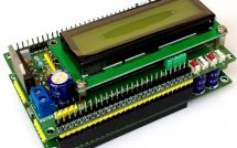 Жидкокристаллический экран 16х2 с двигателем LMD18201 на белом фоне