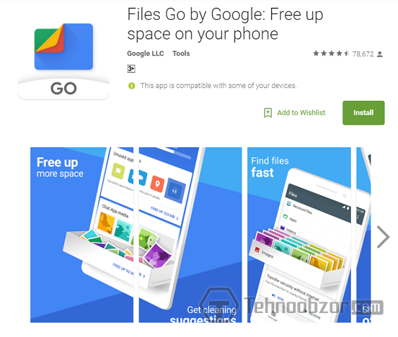 Files Go by Google в Google Play